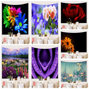 Flower Sea Tapestry Wall Hanging Hippie Tapestries Living Room Background Decor