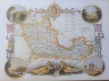 Vintage Reproduction 1800-1899 Date Range Antique Europe County Maps