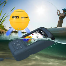 "Lucky 2.8""Wireless Sonar Sensor 45M Fishfinder Echo Sounder+Attractive Lamp 100M"
