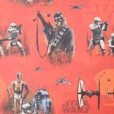 Gardinenstoff Verdunklungsstoff Blackout Dimout Star Wars rot 1,50m Breite