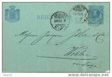 Olanda 1883 Intero postale viaggiato per la Svizzera
