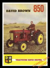 Carte postale affiche publicité tracteurs DAVID BROWN 850 postcard Tractor pub