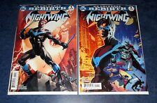 NIGHTWING #1 variant & reg 1st print set DC REBIRTH UNIVERSE TIM SEELEY BATMAN