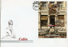 Portugal 2017 FDC Historic Cafes Part II 1v M/S Cover Architecture Design Stamps