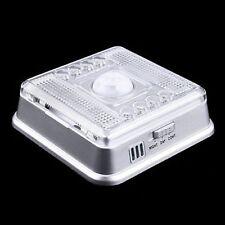 Zion Cree 8-LED Motion Sensor PIR Auto On/Off Closet Cabinet Night Light !