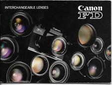 Canon FD Interchangeable Lenses Catalog 1970s