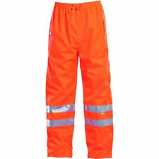 Jonsson Workwear G5004 Mens All Weather HiViz Trousers Work Pants Size XL New