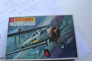 MATCHBOX Gloster Gladiator Military aircraft model 1/72nd scale