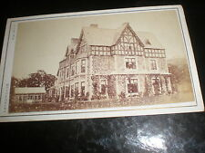 Cdv old photograph large country house by laing at Shrewsbury c1870s