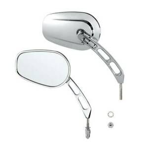 Chrome Raindrop Side Mirrors For Harley Softail Classic Deluxe Breakout Night Ro