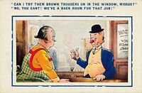 Douglas Tempest Signed Can I Try Them Brown Trousers Comic Postcard