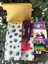Dog Snood AdjustableMed/Lg India GOLD Exclusive bassethoundtown 100% goes2rescue