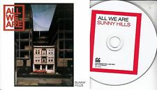 ALL WE ARE Sunny Hills 2017 UK 9-trk promo CD