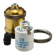 E27 Vintage Edison Copper Brass Lamp Light Bulb Pendant Holder Socket Bronze