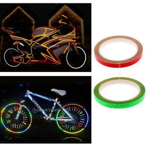 Toyvian 12pcs Adesivi Riflettenti Ruota di Bicicletta Avvertimento Nastri Riflettenti Impermeabili Striscia di Refection Riflettente