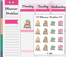 P1580 Kawaii Payday Planner Stickers