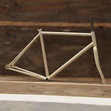 URBAN Track Fixie Fisse Gear frameset Cromo telaio in acciaio & FORCHETTE 54cm