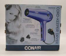 Conair 1875 Watt Ionic Ceramic Hair Dryer Model 209TGR Purple with Attachments