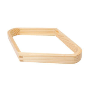 WOODEN TIMBER Pool Billiard Table 9 ball Triangle Rack for 2 inch Balls