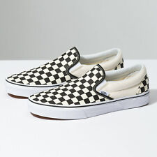 Vans Slip-On Checkerboard Black Classic Shoes - FREE SHIPPING