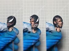 "Painted Service 1/12 Venom Transform Tom Hardy Eddie Brock Head Sculpt for 6"" ML"