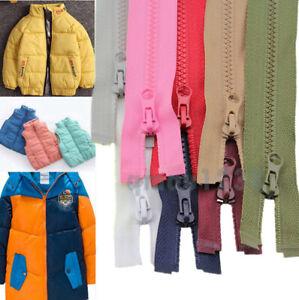 No.3 Resin Teeth Zipper Open End Zip 40CM 50CM For Kidswear Bag Coat Jacket Sew
