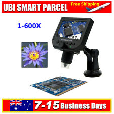 """G600 4.3"""" LCD Electronic Microscope 3.6MP HD OLED Display Magnifier Universal"""