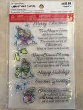 Snowman & Sayings Clear Stamps By Recollections™ 529322 CHRISTMAS 🎅🤶 NEW