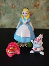Vintage Alice In Wonderland Ceramic Figurine Walt Disney Productions 1980s Japan