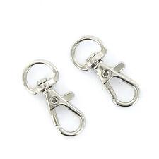 10pcs New Mini Split Keychain Key Ring Clips Snap Hook Carabiner Hanging
