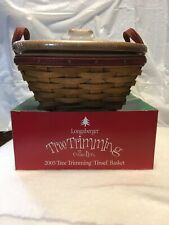 2005 Longaberger Tree Teimming Tinsel Basket Combo New In Box With Garland Bowl