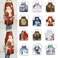 New Christmas Adult Santa Apron Xmas Home Kitchen Cooking Funny Party Decoration