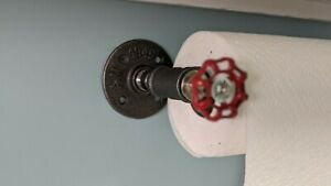 DIY Industrial Pipe Paper Towel Holder urban steampunk rustic decor Free Shippin