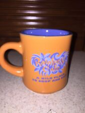 "Rainforest Cafe ""A Wild Place To Shop And Eat"" Mug Orange Blue Inside"