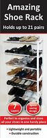 7 Tier 21 Pairs Shoe Heels Trainers Storage Shelf Stand Rack Organizer Unit Tidy