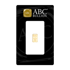 1 gram Gold Bullion Investment Bar Abc Bullion 99.99%