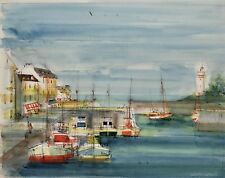 Sacha CHIMKEVITCH- Peinture originale - Petit port Normand 4