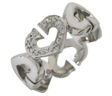 CARTIER 18K White Gold Hearts and Symbols Diamonds Ring 46