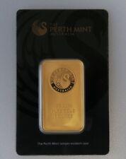 31,1g Perth Mint Gold Barren 31,1 Gramm Zertifikat Blister