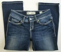 BKE Buckle Jeans Capri Womens Size 25 Culture Cropped Stretch Denim Pants