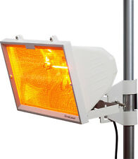 Knightsbridge IP24 1300W Outdoor Riscaldatore ad infrarossi Mesh Grill & Tubo RS7 Bianco x1
