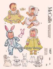 McCalls Dolls Clothes Dress Romper Bonnet SEWING PATTERN 13 in 32 cm COPY