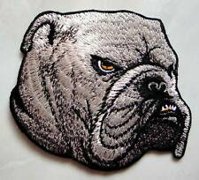 Beautiful Grin Bulldog Dog Head Embroidered Iron on Patch Free Shipping