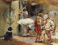 Scenes of the Circus by Venezuelan  Arturo Michelena. Fun Art 11x14 Print