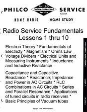 Philco Radio Service Fundamentals Home Study Course * CDROM * PDF