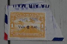 Nice Vintage Used Correo Aereo Nicaragua 1 Uncordoba Stamp, Gold GOOD COND