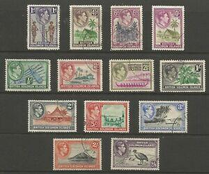 British Solomon Islands GVI 1939 full set used cat £50