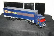 Âge camion US Truck Mack avec caravane publicitaire modèle GEFCO majorette 1/60 voiture miniature