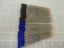 Judd's Lot of 30 Cross Style Rollerball Refills - 15 Black & 15 Blue