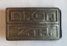 "Vintage DIXON ZTR Belt Buckle Silver Toned Fits up to 1.65"" Belt Width 3 3/8""x2"""